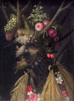 Four Seasons in One Head is an Oil on Canvas Painting created by Giuseppe Arcimboldo in It lives at the National Gallery of Art, Washington in the United States. The image is in the Public Domain, and tagged Portraits, Flowers, Fruit and The Four Seasons. Giuseppe Arcimboldo, Italian Painters, Italian Artist, Moritz Von Schwind, Painting Prints, Fine Art Prints, Art Paintings, Google Art Project, Photo Images