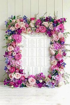 floral seating card display