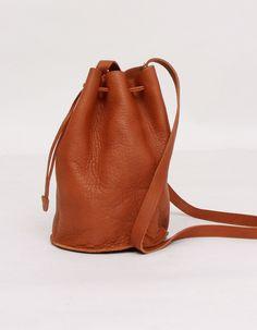 Baggu - Carmel Leather Drawstring Purse