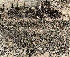 Vincent van Gogh: Garden with Flowers  Arles: July, 1888 (Winterthur, Oskar Reinhart Collection 'Am Römerholz')