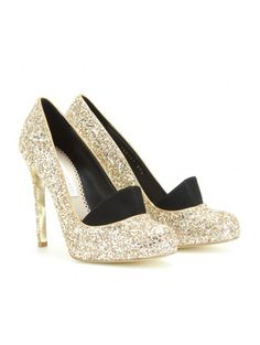 Shop: party heels | ELLE  Stella McCartney glitter pumps
