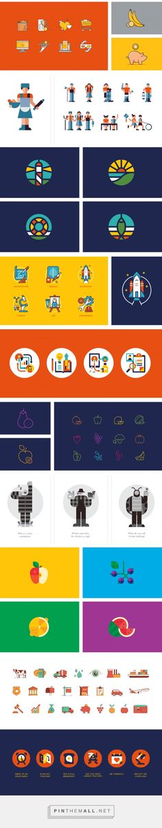 icon selection on Behance - created via https://pinthemall.net