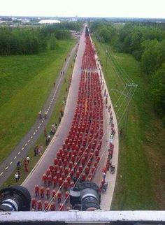 An incredible site. Funeral procession for Moncton Mounties. Unable to find source for original picture (if you know, please post in the comments). More photos can be seen in the link below. Canadian Things, I Am Canadian, Canadian History, Cool Countries, Countries Of The World, Quebec, Montreal, Moncton Nb, All About Canada