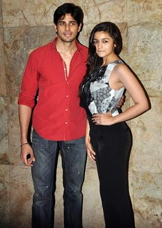 Siddharth Malhotra and Alia Bhatt