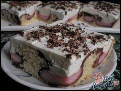 Kinder mliečny rez - rýchly a výborný koláčik bez múky! Czech Recipes, Ethnic Recipes, Sweet Recipes, Cake Recipes, Jacque Pepin, Pavlova, Desert Recipes, Graham Crackers, Sweet Tooth