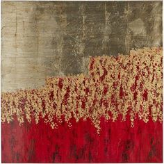 "Though we've titled it ""Unassuming,"" our remarkable, hand-painted canvas will have quite an impact on your living, dining or bedroom areas. With its interplay of red, gold and silver, this artwork is ready to bring a dramatic counterpoint to modern and traditional styles alike."