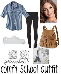 """Comfy School Outfit"" by elizabethdahl on Polyvore. This is EXACTLY what like, 90% of the girls at my school wear!!!"