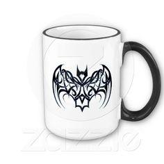 Black Tribal Bat Coffee Mug