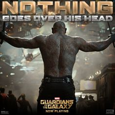 Nothing goes over his head. #GuardiansOfTheGalaxy