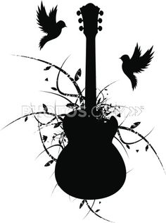 guitar and birds