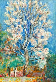 ❀ Blooming Brushwork ❀ - garden and still life flower paintings - Pierre Bonnard | L'Amandier