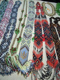 Beaded Necklaces Gerdans Western Ukraine