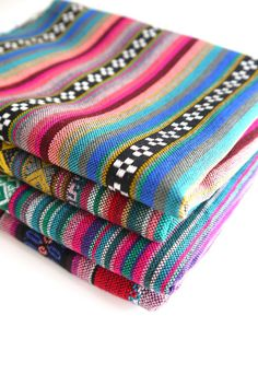 Andean Fabric from Peru, Bolivia & Argentina by the Yard Aztec Fabric, Woven Fabric, Fabric Pictures, Textiles, Remodeled Campers, True Colors, Jewelry Crafts, Craft Supplies, Etsy Seller