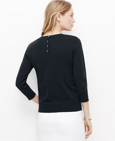 Thumbnail Image of Color Swatch 1878 Image of Floral Eyelet 3/4 Sleeve Sweater