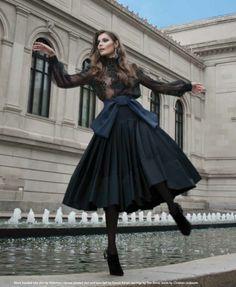 Valentino blouse & Donna Karan skirt