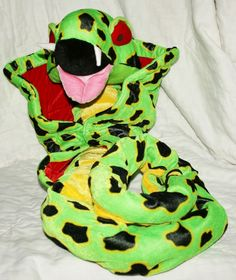 82 inch Long Plush Cobra Stuffed Animal Ugly and Scary Fangs Halloween Serpent