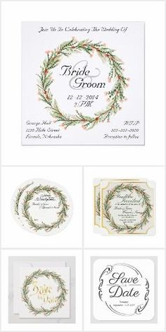 Personalise with your own name and details. Watercolor Flower Wreath & Gold Frame Invitation A square wedding invitation with a Watercolor Flower Wreath & faux Gold Frame Square Wedding Invitations, Bridal Shower Invitations, Wedding Favors, Thistle Wedding, Rose Wedding, Date Squares, Watercolor Flower Wreath, Zazzle Invitations, Invitation Design