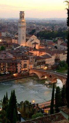 Anoitecer em Verona