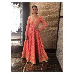 looks stunning in her Tammana Anarkali for promotions Call us on 07931 999111 to order this piece Indian Attire, Indian Ethnic Wear, Indian Outfits, Indian Clothes, Mehendi Outfits, Desi Clothes, Pakistani Outfits, Patiala Suit Wedding, Angrakha Style