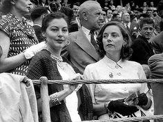 Ava Gardner and Lucía Bosé in bullfighting, 50's.
