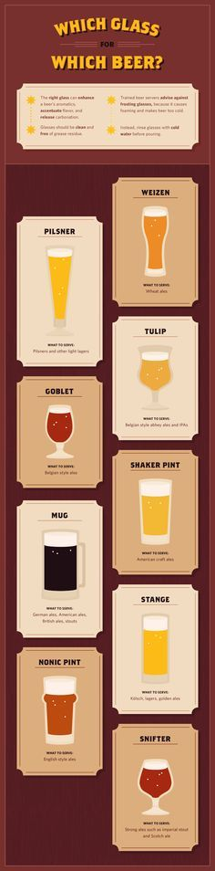 Which Glass for Each Beer
