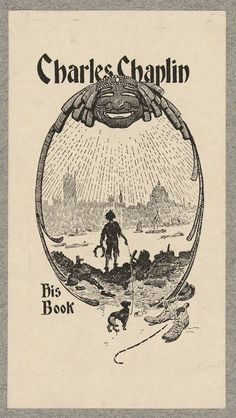 Bookplate of Charlie Chaplin, lithograph   - Bookplates as Deeply Personal Brands of the Home Library