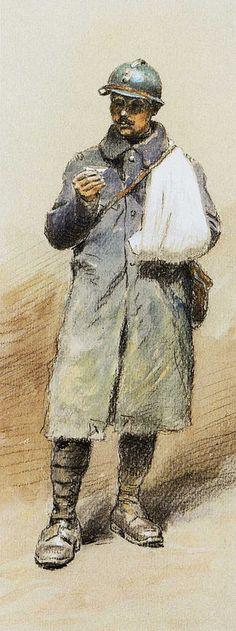 1918 Jean Jacques Berne Bellecour, le Poilu blessé ou l'art de rouler sa cigarette d'une main, 39x53 cm | Flickr - Photo Sharing!