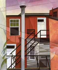 Charles Demuth (American 1883–1935) [Precisionism] Modern Conveniences, 1921.