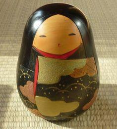 Japanese Artist Toua Sekiguchi Vintage Wood Carving Creative Kokeshi Doll Rare | eBay