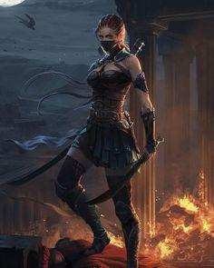 Dark Fantasy is the Best Fantasy Fantasy Warrior, Fantasy Girl, Warrior Girl, Fantasy Women, Anime Warrior, Warrior Women, Anime Fantasy, Fantasy Artwork, Dark Fantasy Art