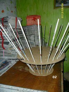 Guide tubes pour tresser sur de grandes tiges et donner une forme