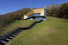 Alps Villa by Camillo Botticini Architetto: Planted in the middle of two major valleys in Northern Italy, the latest work by Camillo Botticini Contemporary Architecture, Landscape Architecture, Interior Architecture, Cadre Design, Copper House, Italy House, Villa, Precast Concrete, Architecture Awards