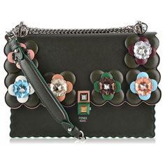65b36281896 Fendi Kan Flowers Scallop Trim Bag ( 3