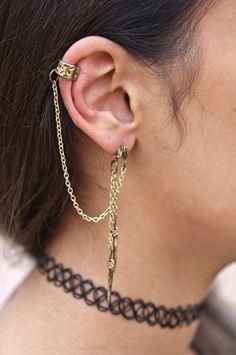 Bad Ass Ear Cuff a Chain   #earcuff #earcuffs #earrings #accessories #jewelry
