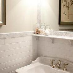 Tiek Built Homes Bathrooms Subway Tiles Tile Backsplash White Bathroom