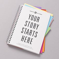 Your story starts here notebook