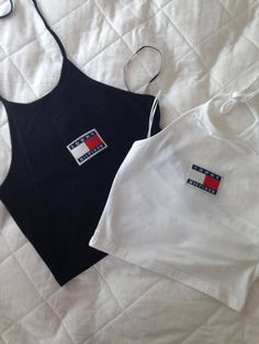 Reworked Tommy Hilfiger Crop Halter Top by shopangels on Etsy