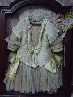 Gorgeous french Bebe Couturier Dress Hat Dream-catcher Lace silk doll from believe on Ruby Lane