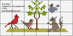 The Sampler Girl's Blog: Birding 101, Free pattern, and of course a recipe ...