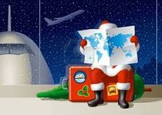Buy Santa's Christmas Travel by iatsun on GraphicRiver. Santa Claus at the airport is sitting on a suitcase and selecting a route for the Christmas travel. Christmas On A Budget, Christmas Travel, Christmas And New Year, Holiday Travel, Christmas Time, Christmas Ideas, Merry Christmas, Find Santa, Dates