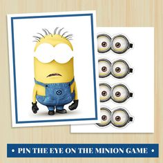 INSTANT DOWNLOAD - Pin the Eyes on the Minion Game - Printable - Do It Yourslf on Etsy, $10.00