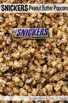 SNICKERS Peanut Butter Popcorn