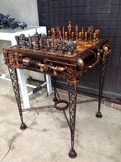 Steampunk furniture design ideas from cool to crazy. What do you think of Steampunk? What comes to mind is probably a cosplay girl in a leather corset and a circular skirt. The Steampunk furniture concep. Casa Steampunk, Steampunk Kunst, Design Steampunk, Steampunk Theme, Steampunk Fashion, Steampunk Bedroom, Steampunk Drawing, Steampunk Costume, Steampunk Kitchen