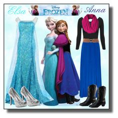 """""""Frozen #Elsa and Anna - Sister Love"""" by asiyaoves ❤ liked on Polyvore featuring Disney, DKNY, Pull&Bear and Disneyprincess"""