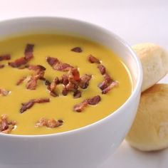 butternut squash soup with bacon