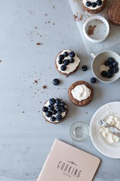 Chocolate and Blueberry Mini Cakes //  Sanda Vuckovic // Little Upside Down Cake