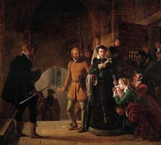 Pierre-Henri Révoil - Mary, Queen of Scots, Separated from Her Faithfuls - 1822 trob Missed In History, Uk History, History Class, Tudor History, Women In History, European History, Family History, Mary Queen Of Scots, Queen Mary