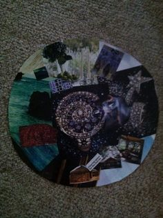 My most recent vision board!  I created this one in a circular shape...ready to clear a space for the real me...the seeker