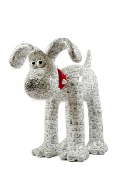 gromit unleashed. Gromit, covered in cats, illustrated by Simon Tofield.