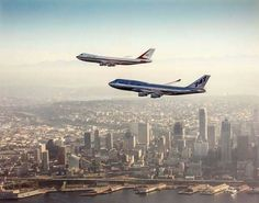 On this day, 50 years ago, the Boeing 747 rolled out of the assembly line for the first time, sparking a major change in the aviation industry. 747 Airplane, Airplane View, 747 Jumbo Jet, Boeing Planes, Boeing 747 400, Boeing Aircraft, Northwest Airlines, Private Pilot, Old Planes